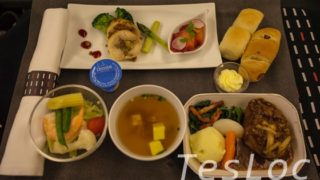 JALビジネス台北行き機内食