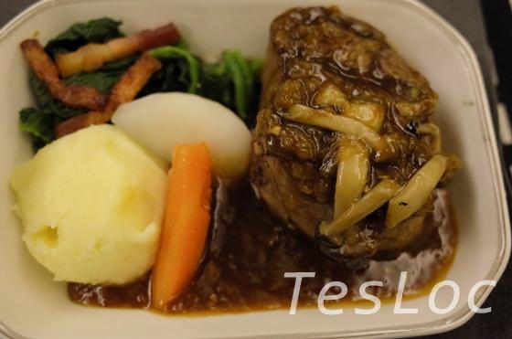 JALビジネス台北行き機内食メイン