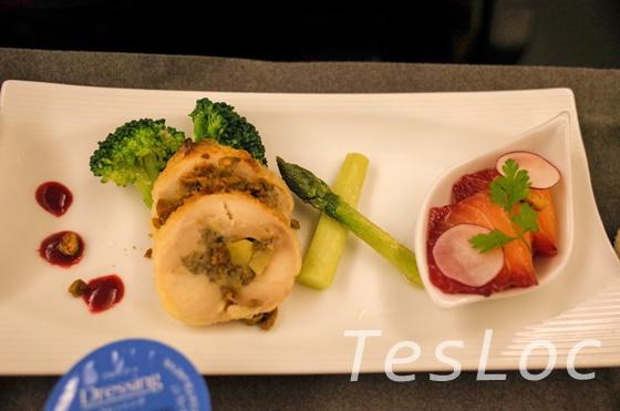 JALビジネスクラス台北行き機内食の前菜