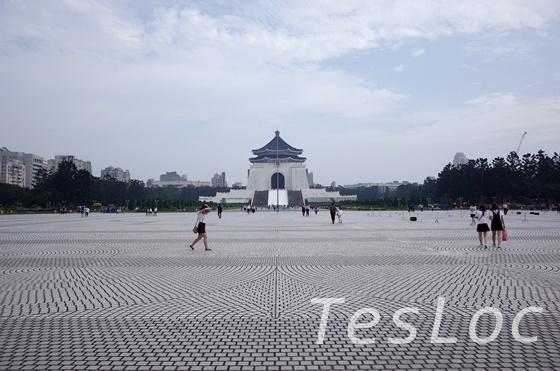 中正記念堂前の広場奥からの景色