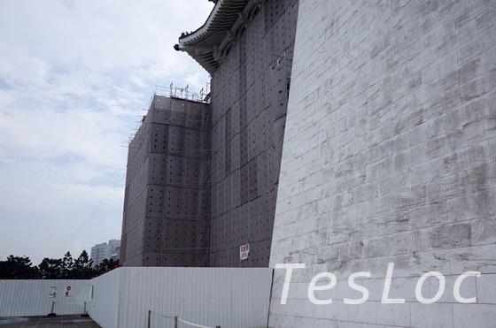 中正記念堂の補修工事