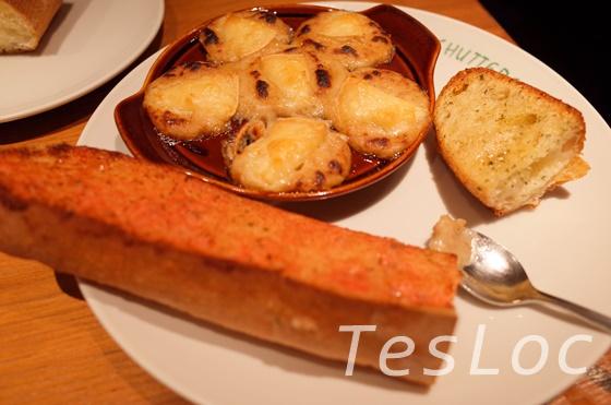 カマンベールチーズのグラタンとトースト