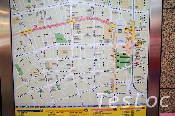 台北地下街の案内板