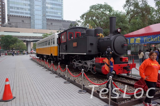 台北駅前の機関車
