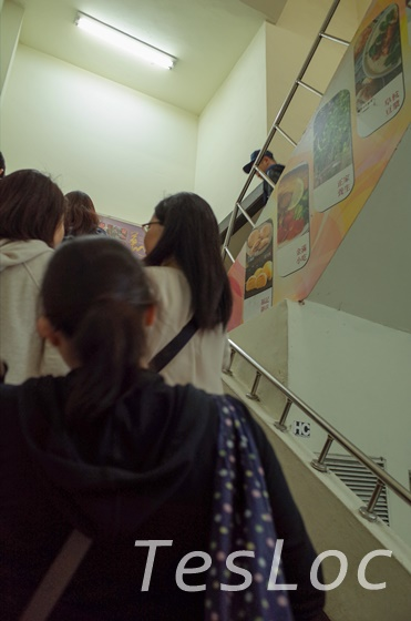 阜杭豆漿の行列階段部