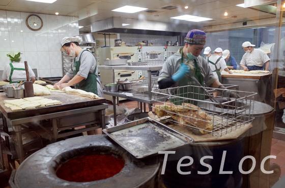阜杭豆漿の厨房