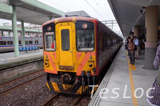 瑞芳駅に入る平渓線の列車