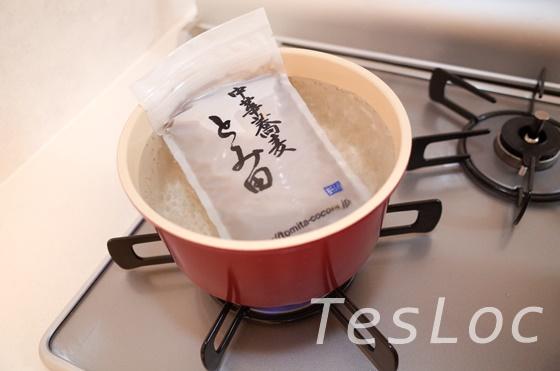 宅麺.comとみ田のスープ温め