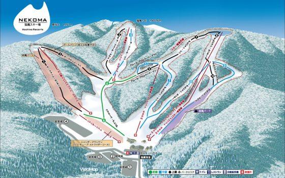 猫魔スキー場のゲレンデマップ