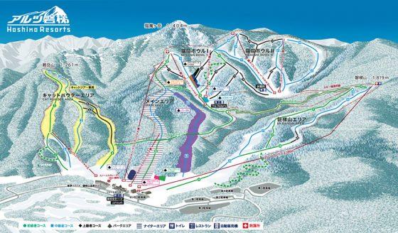 アルツ磐梯のゲレンデマップ