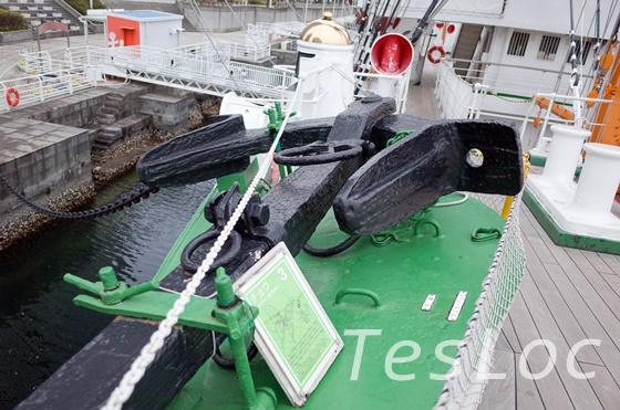 帆船日本丸の碇