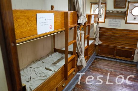 帆船日本丸の練習生船室