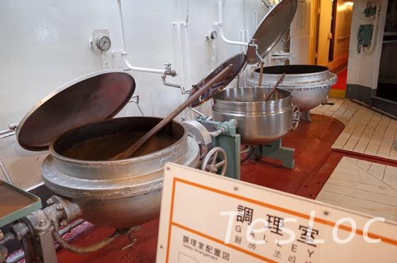 帆船日本丸の調理場