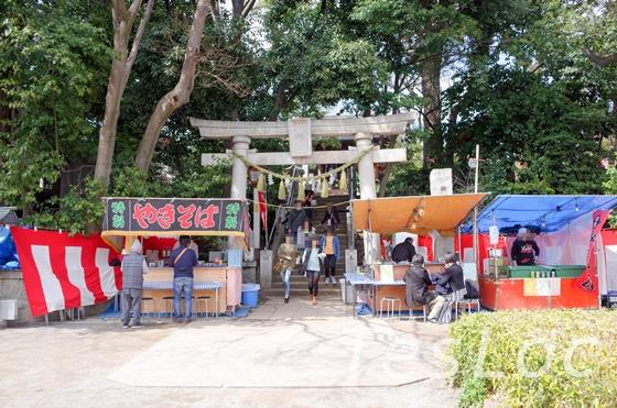 洗足池西側神社の参道