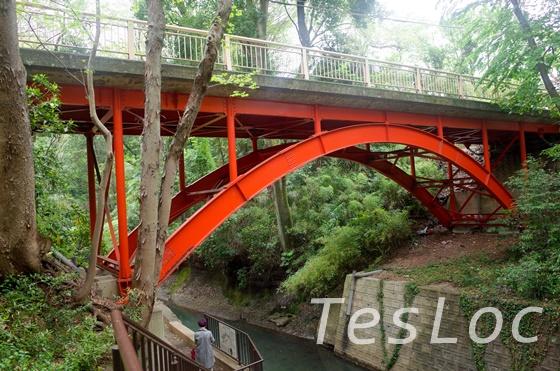等々力渓谷のゴルフ橋