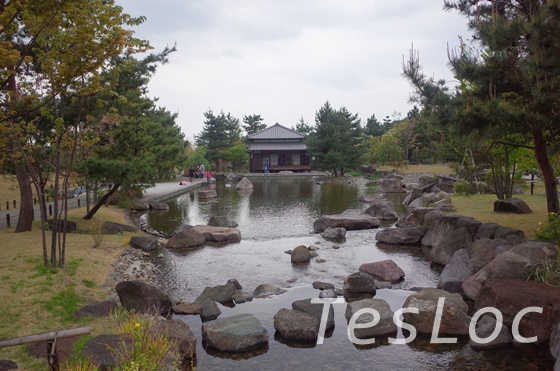 二子玉川公園内の日本庭園