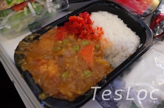 アメリカン航空機内食チキンカレー