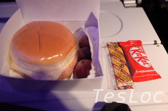 アメリカン航空機内食の軽食