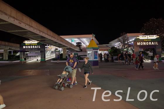 WDWにあるTTCのモノレール乗り場