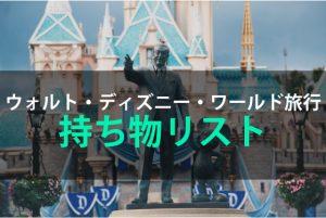 ウォルト・ディズニー・ワールド旅行の持ち物リスト