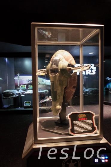 WDWハリウッドスタジオ「Star Wars Launch Bay」Slave 1の展示