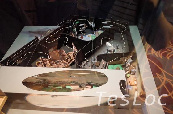 WDWハリウッドスタジオ「ワン・マンズ・ドリーム」ピーターパン空の旅の模型