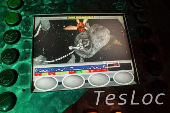 WDWディズニー・スプリングス「ディズニー・クエスト」サイバースペースマウンテンコース設計画面