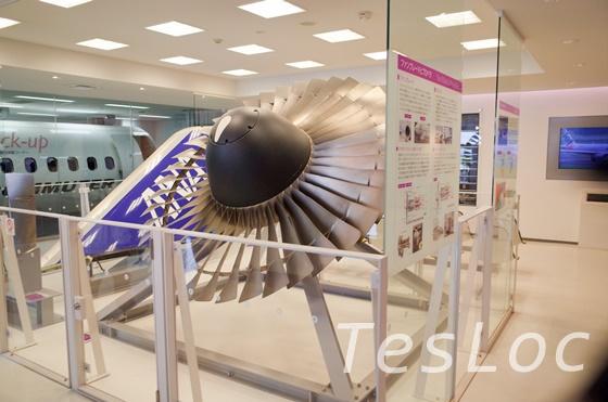 鹿児島空港展示室のタービン