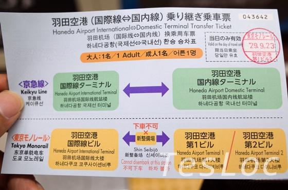 羽田空港モノレール、京急の飛行機乗り継ぎ時無料切符