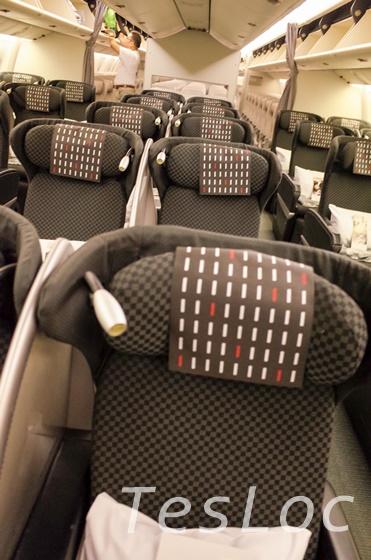 羽田-台北松山便のビジネスクラス