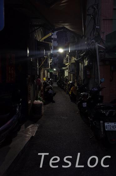 台北ホテル近くの路地