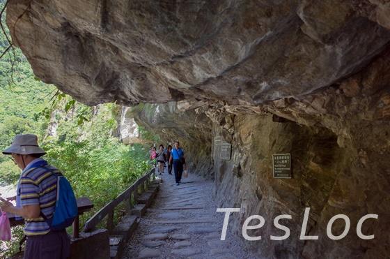 太魯閣の岩のトンネル