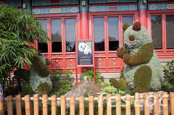 WDWエプコット「フラワー&ガーデンフェスティバル」パンダ