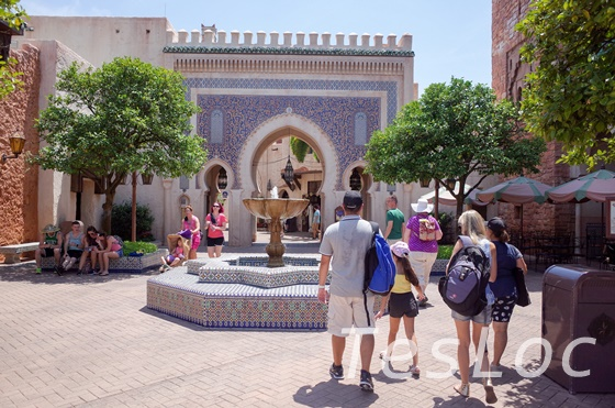WDWエプコット「ワールドショーケース」モロッコ館噴水