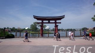 WDWエプコット「ワールドショーケース」日本館の鳥居