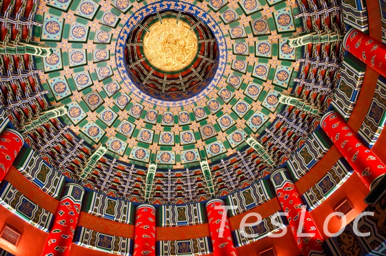 WDWエプコット「ワールドショーケース」中国館天井