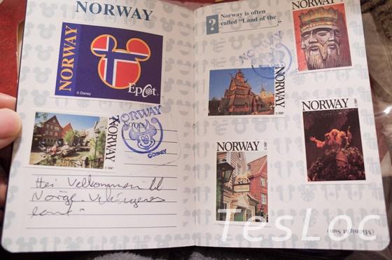 WDWエプコット「ワールドショーケース」ノルウェー館パスポート