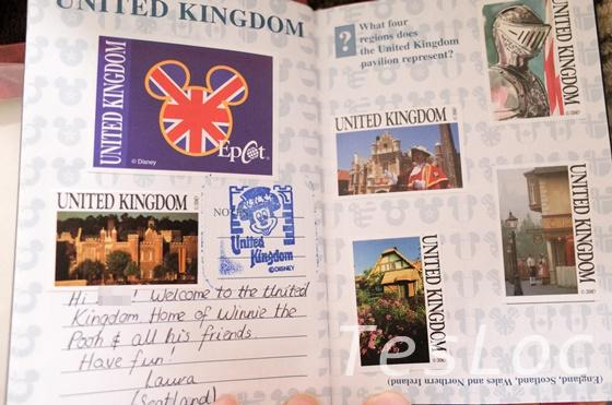 WDWエプコット「ワールドショーケース」イギリス館パスポート