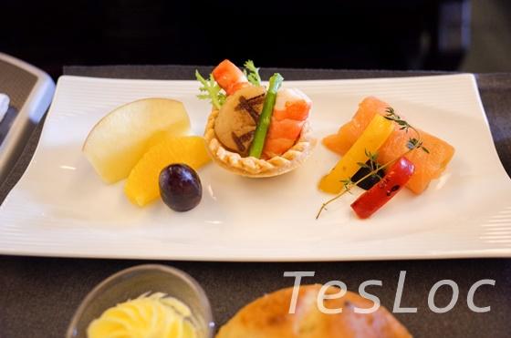 JALビジネスクラス洋食前菜