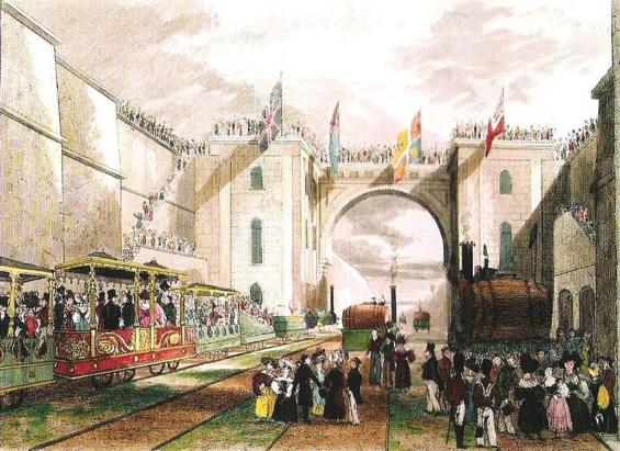 リバプール・アンド・マンチェスター鉄道開業式