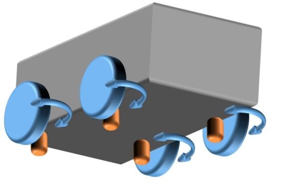 4輪独立回転式の車台